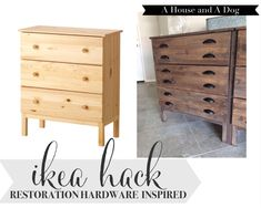 IKEA Tarva Hack. Some stain and new hardware. Could do this with several ikea items