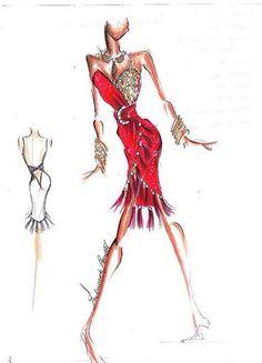Red latin dress