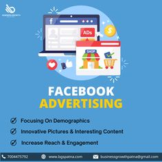 Advertise your business on Facebook to reach and engage with your target audience in a safe and virtual manner. Know more at www.bgspatna.com WhatsApp 7004475792. #Facebook #FacebookAdvertising