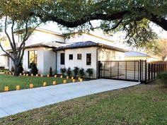 Dallas TX Decorative Modern Driveway Gate & Fence