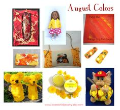 """""""August Colors"""" by sweetchildjewelry ❤ liked on Polyvore featuring art"""
