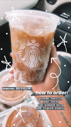 Arbonne 30 Days To Healthy Living Discover healthy starbucks This generally looks amazing Starbucks Diy, Starbucks Secret Menu Drinks, How To Order Starbucks, Starbucks Frappuccino, Starbucks Coffee, Low Calorie Starbucks Drinks, Bebidas Do Starbucks, Healthy Starbucks Drinks, Yummy Drinks