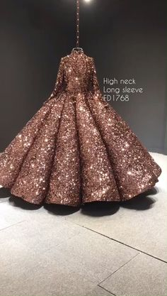 Customized high neck and long sleeve couture ball gown, sparkly vintage debut dr. Customized high neck and long sleeve couture ball gown, sparkly vi Sweet 15 Dresses, Pretty Dresses, Beautiful Dresses, Sparkly Dresses, Beautiful Eyes, Beautiful Pictures, Debut Dresses, Debut Gowns, Ball Gowns Prom