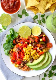 This grilled veggie vegan burrito bowl recipe is packed with flavor and healthier than takeout. A quick 20-minute meal that will fill you up for the day!