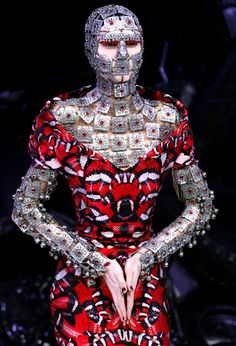 Alexander McQueen. I love how he has used Eastern Indian jewelry design and turned it into beautiful armor.