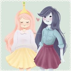 Repost of these two baes () #bubbline Tag a friend who loves Adventure Time ✨