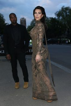 Kim Kardashian Leaves Little to the Imagination During a Fashionable Night Out With Kanye West