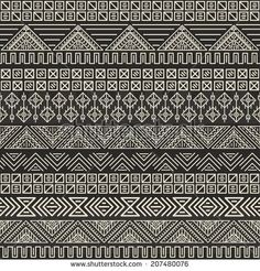 Aztec pattern. Vector tribal background