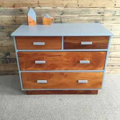 Rimu and Grey Drawers