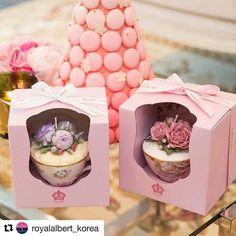 @royalalbert_korea 에 포스팅 된 내 작업 ✨ . . .  #로얄알버트#rayalalbert#teacupcake#flowercandle
