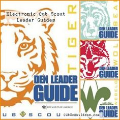 The #CubScout den leader guides are available electronically!