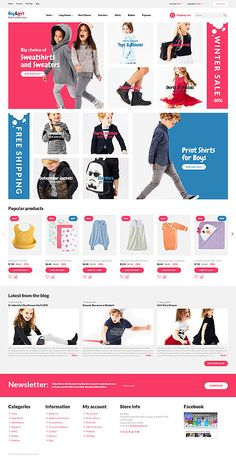 Fashion Store Responsive #OpenCart #Template. One of the most profitable businesses in eCommerce is #Kids #Clothes. Crafted for fashion boutiques, clothing, shoes and footwear online stores, #fashion & beauty, cars & motorcycles, home & family websites. The #template is a fully responsive and SEO friendly. Minimalist design puts a focus on your products, adding a sleek and trendy look to your site. The smart cart is updating without page reloading and users can instantly add and remove…