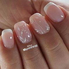 Simple Wedding Nails, Wedding Day Nails, Wedding Nails Design, Wedding Pedicure, Nail Designs For Weddings, Wedding Toes, Simple Nails, Wedding Ceremony, Bridal Nails French