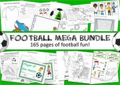 Football Mega Bundle colouring pages