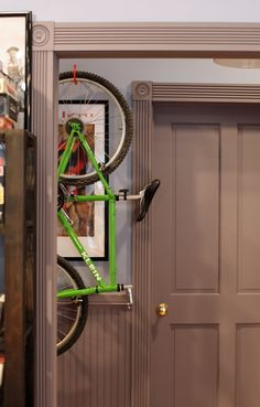 Jerry's Hanging Bike Bike Storage, Seinfeld, 90s Things, Clean House, Tall Cabinet Storage, Condo, Bicycle Storage