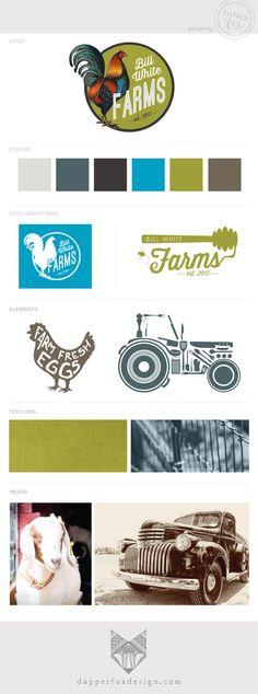 BILL WHITE FARMS   branding + logo design — Dapper Fox Design - Branding + Website Design