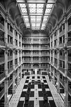 Interior of the Peabody Library in Baltimore