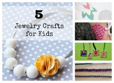 Crafting jewelry is super fun to do and it can be really kid-friendly if you find the right crafts! Here are 5 ideas for crafting handmade jewelry with kids!