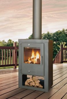 Wood Burner, Outdoor Fire, Backyard Patio, Stove, Home And Garden, House, Gardens, Stoves, Fire Places