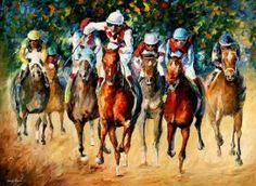 HORSE RACE by Leonid Afremov by Leonidafremov