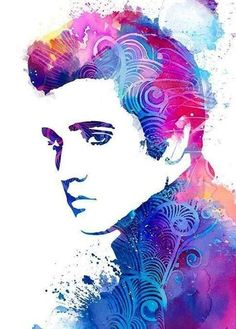 ZOOYA diy Diamond embroidery Elvis Presley diamond painting Cross Stitch full drill Rhinestone mosaic home decoration Watercolor Girl, Watercolor Paintings, Watercolors, Musica Elvis Presley, Elvis Presley Posters, Fanart, Rare Pictures, Arte Pop, Cross Paintings