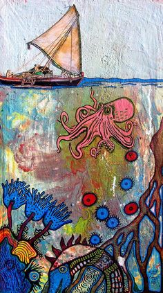 Octopus Garden Painting by Garrett Lacy - Octopus Garden Fine Art Prints and Posters for Sale
