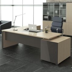Executive office desk - Although the schedule is an office ground, having such a table can be a little expensive. Classic Office Furniture, Office Furniture Design, Office Interior Design, Office Interiors, Home Interior, Law Office Decor, Office Table Design, Executive Office Desk, Medical Office Design