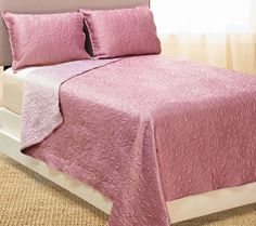 Dennis Basso 3pc Hayley Matte Satin Quilted King Coverlet Set