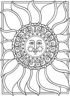Dover Spark Sun Moon Stars Coloring Page