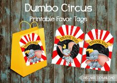 Dumbo Party Package, Dumbo Birthday Party Ideas, Dumbo Circus Party