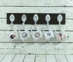 Your place to buy and sell all things handmade - Coffee Cup Rack, Coffee Mug Display, Coffee Mug Holder, Coffee Cups, Halloween Bottles, Halloween Mug, Wooden Kitchen, Kitchen Decor, Kitchen Ideas