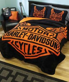 Harley Davidson Queen Bedding In On Popscreen