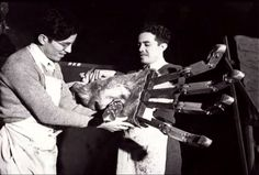Marcel Delgado and brother Victor. Working on King Kong's hand.