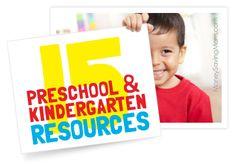 15 Preschool & K Resources from MoneySavingMom.com