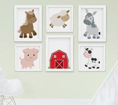 Quadro Infantil Fazendinha Lindos Modelos no Site. Confira! #bebeworld #quadroinfantil Farm Animals, Brown And Grey, Baby Room, Kids Rugs, Gabriel, Crafts, Home Decor, Farm Bedroom, Organizing Toddler Rooms