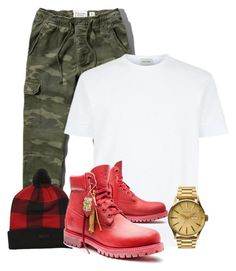 Blood timbs by lilchrisbkd on Polyvore featuring polyvore, Abercrombie & Fitch, Nixon, NIKE, Timberland, mens, men, men's wear, mens wear, male, mens clothing and mens fashion