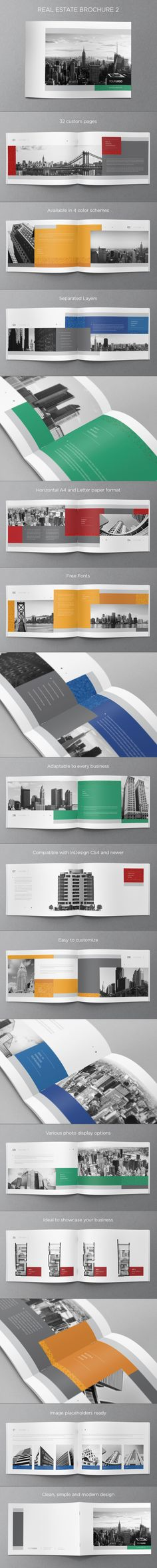 Real Estate Brochure. Download here: http://graphicriver.net/item/real-estate-brochure-2/5935898 #design #brochure