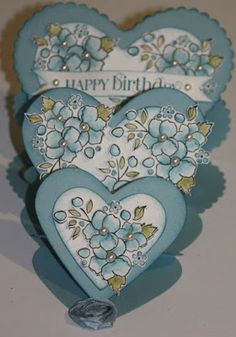 Sheri's Paper Creations: Triple Heart Easel Card Tutorial