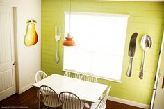 colander kitchen lamp & planked wall #diy #kitchenmakeover
