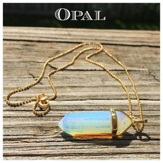 "Opal Gemstone Hexagon Chakra Pendant Necklace! Natural Opal Gemstone  Hexagonal Pointed Reiki Chakra Pendant on 18K Gold Stamped Chain  Pendant Size- 0.3"" Thick & 1.5"" Long Chain Is 18K Gold Plated, Nickel & Lead Free; 1.2mm Thick, 17"" Long, Lobster clasp closure Meaning- Brings lightness & spontaneity, aids in accessing ones true self; emotional stabilizer, protects  - Price Firm unless Bundled - Bundle 2 or more items for 20% Discount! - No Trades - PayPal is now accepted thru Posh…"