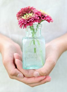 Vintage French Sea Glass Bottle