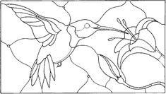Hummingbird : Rubber Art-Stamps : Decorative Rubber Stamps : The Stampin' Place Glass Painting Patterns, Stained Glass Patterns Free, Stained Glass Quilt, Stained Glass Birds, Faux Stained Glass, Stained Glass Designs, Stained Glass Projects, Mosaic Patterns, Pattern Art