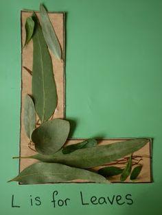 L is for leaves...reminds me of the sustainability alphabet! gilbertDIY.wordpress.com pinterest.com/gilbertDIY