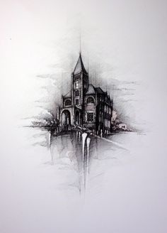 USA - The THOMPSON HALL - University of New Hampshire,   Drawing on canvas, , 50x70cm   © Pavel Filgas 2016   https://www.facebook.com/Pavel-Filgas-Art-500412180019911/ https://www.instagram.com/pavel_filgas_art/ https://twitter.com/PavelFilgas https://www.pavelfilgas.com, PAVEL FILGAS