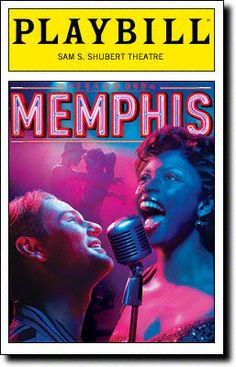 Playbill Cover for Memphis at Shubert Theatre - Opening Night 2009