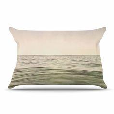 "Iris Lehnhardt ""Mystic Sea"" Green Blue Pillow Case"