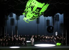 Klaus Grünberg – Set and lighting design for Wagner's Lohengrin, Staatsoper Wien, 2005