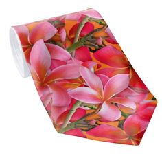Big pink plumeria, Hawaiian island coastal wedding in the tropics.  Floral pattern on bright orange.