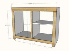 Barn Door Cabinet with Mini Fridge and Microwave Outdoor Mini Fridge, Outdoor Refrigerator, Refrigerator Cabinet, Ana White, Mini Fridge Stand, Barn Door Cabinet, Barn Doors, Pecan Cobbler, Diy Home Bar