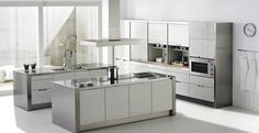 Moderne Küche / Edelstahl / Laminat MINOS LAQUER SANTOS